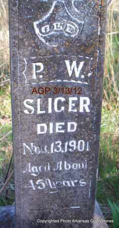 SLIGER, P W - Scott County, Arkansas | P W SLIGER - Arkansas Gravestone Photos
