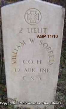 SORRELS  (VETERAN CSA), WILLIAM W - Scott County, Arkansas | WILLIAM W SORRELS  (VETERAN CSA) - Arkansas Gravestone Photos