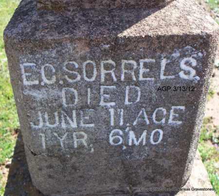 SORRELS, E C (CLOSEUP) - Scott County, Arkansas   E C (CLOSEUP) SORRELS - Arkansas Gravestone Photos