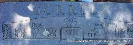 SORRELS, ONA - Scott County, Arkansas   ONA SORRELS - Arkansas Gravestone Photos