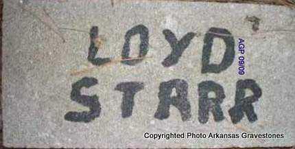 STARR, LOYD - Scott County, Arkansas   LOYD STARR - Arkansas Gravestone Photos