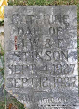 STINSON, CATHRINE - Scott County, Arkansas   CATHRINE STINSON - Arkansas Gravestone Photos