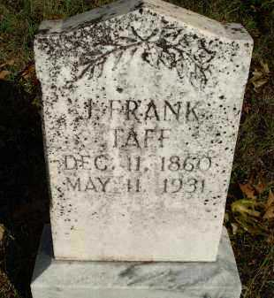 TAFF, J FRANK - Scott County, Arkansas   J FRANK TAFF - Arkansas Gravestone Photos