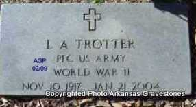 TROTTER  (VETERAN WWII), L A - Scott County, Arkansas | L A TROTTER  (VETERAN WWII) - Arkansas Gravestone Photos