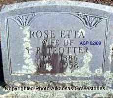 TRAYLOR TROTTER, ROSE ETTA - Scott County, Arkansas | ROSE ETTA TRAYLOR TROTTER - Arkansas Gravestone Photos