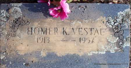 VESTAL, HOMER K - Scott County, Arkansas   HOMER K VESTAL - Arkansas Gravestone Photos