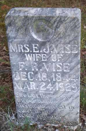 VISE, E  J, MRS - Scott County, Arkansas | E  J, MRS VISE - Arkansas Gravestone Photos