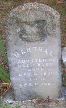 VISE, MARTHA L - Scott County, Arkansas | MARTHA L VISE - Arkansas Gravestone Photos
