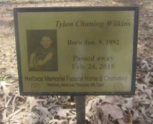 WILKINS, TYLON CHANNING - Scott County, Arkansas   TYLON CHANNING WILKINS - Arkansas Gravestone Photos