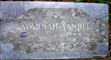 YANDELL, SAVANNAH - Scott County, Arkansas | SAVANNAH YANDELL - Arkansas Gravestone Photos