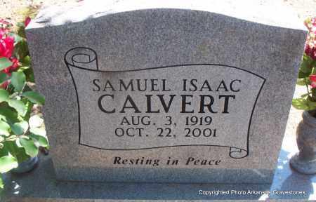 CALVERT, SAMUEL ISAAC - Scott County, Arkansas   SAMUEL ISAAC CALVERT - Arkansas Gravestone Photos