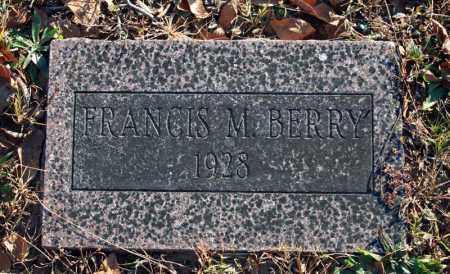BERRY, FRANCIS . - Searcy County, Arkansas | FRANCIS . BERRY - Arkansas Gravestone Photos