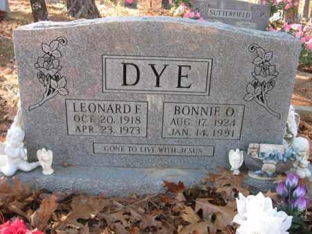 DYE, LEONARD FRANKLIN - Searcy County, Arkansas | LEONARD FRANKLIN DYE - Arkansas Gravestone Photos