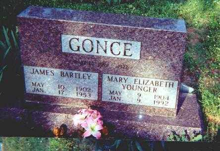 YOUNGER GONCE, MARY ELIZABETH - Searcy County, Arkansas | MARY ELIZABETH YOUNGER GONCE - Arkansas Gravestone Photos