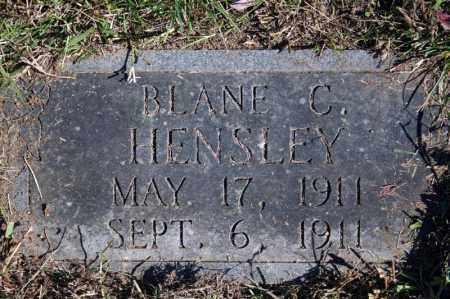 HENSLEY, BLANE C. - Searcy County, Arkansas   BLANE C. HENSLEY - Arkansas Gravestone Photos