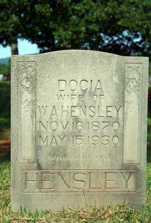 HENSLEY, DOCIA - Searcy County, Arkansas | DOCIA HENSLEY - Arkansas Gravestone Photos