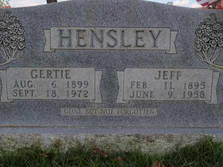 HENSLEY, JEFF - Searcy County, Arkansas | JEFF HENSLEY - Arkansas Gravestone Photos