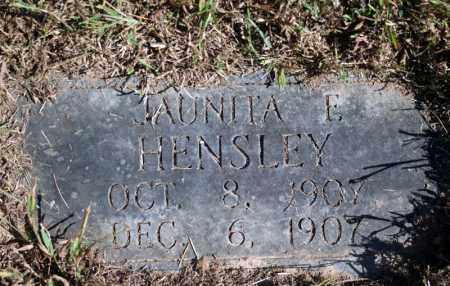 HENSLEY, JAUNITA E. - Searcy County, Arkansas   JAUNITA E. HENSLEY - Arkansas Gravestone Photos