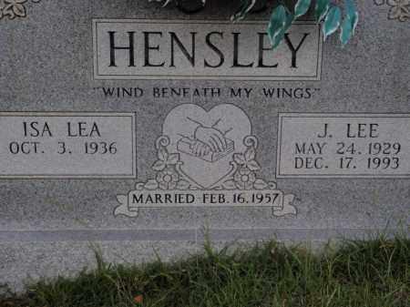 HENSLEY, J LEE - Searcy County, Arkansas | J LEE HENSLEY - Arkansas Gravestone Photos