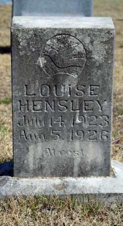 HENSLEY, LOUISE - Searcy County, Arkansas | LOUISE HENSLEY - Arkansas Gravestone Photos