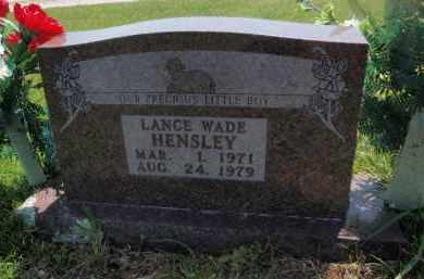 HENSLEY, LANCE WADE - Searcy County, Arkansas | LANCE WADE HENSLEY - Arkansas Gravestone Photos
