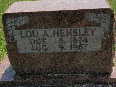 PARKS HENSLEY, LOU A - Searcy County, Arkansas | LOU A PARKS HENSLEY - Arkansas Gravestone Photos