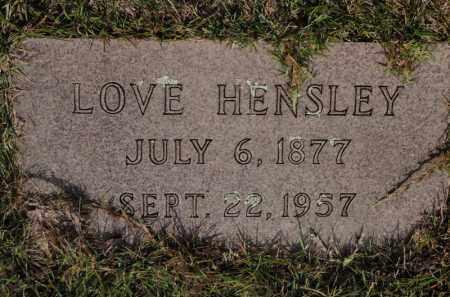 HENSLEY, LOVE - Searcy County, Arkansas | LOVE HENSLEY - Arkansas Gravestone Photos