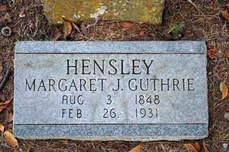 HENSLEY, MARGARET J. - Searcy County, Arkansas   MARGARET J. HENSLEY - Arkansas Gravestone Photos