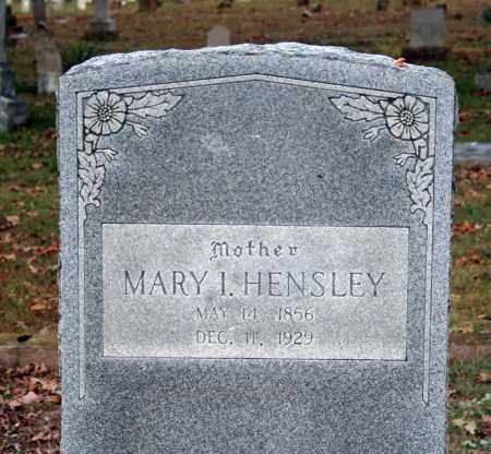 HENSLEY, MARY I. - Searcy County, Arkansas | MARY I. HENSLEY - Arkansas Gravestone Photos
