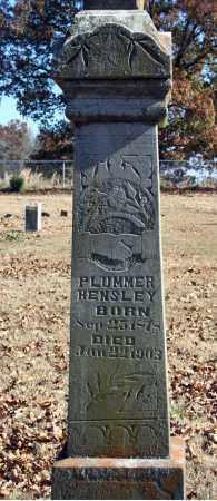 HENSLEY, PLUMMER - Searcy County, Arkansas   PLUMMER HENSLEY - Arkansas Gravestone Photos