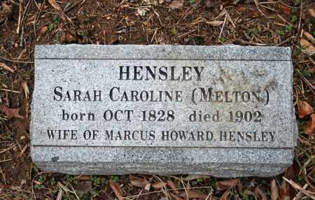 MELTON HENSLEY, SARAH CAROLINE - Searcy County, Arkansas | SARAH CAROLINE MELTON HENSLEY - Arkansas Gravestone Photos