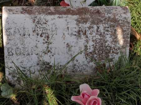 HENSLEY, SARRAH - Searcy County, Arkansas | SARRAH HENSLEY - Arkansas Gravestone Photos