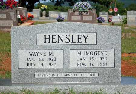 HENSLEY, WAYNE M. - Searcy County, Arkansas | WAYNE M. HENSLEY - Arkansas Gravestone Photos