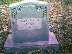 MANN, MARSHALL - Searcy County, Arkansas | MARSHALL MANN - Arkansas Gravestone Photos