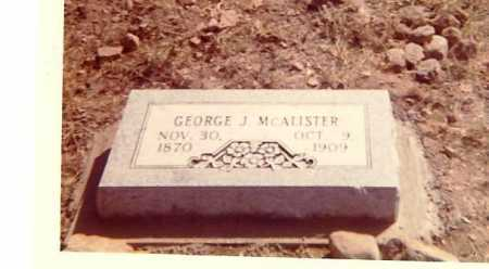 MCALISTER, GEORGE J. - Searcy County, Arkansas   GEORGE J. MCALISTER - Arkansas Gravestone Photos