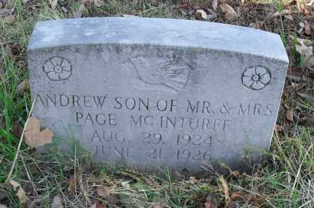MCINTURFF, ANDREW - Searcy County, Arkansas   ANDREW MCINTURFF - Arkansas Gravestone Photos