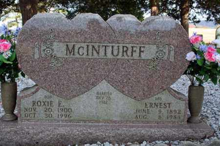MCINTURFF, ERNEST - Searcy County, Arkansas | ERNEST MCINTURFF - Arkansas Gravestone Photos