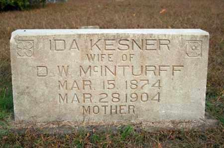 KESNER MCINTURFF, IDA - Searcy County, Arkansas | IDA KESNER MCINTURFF - Arkansas Gravestone Photos