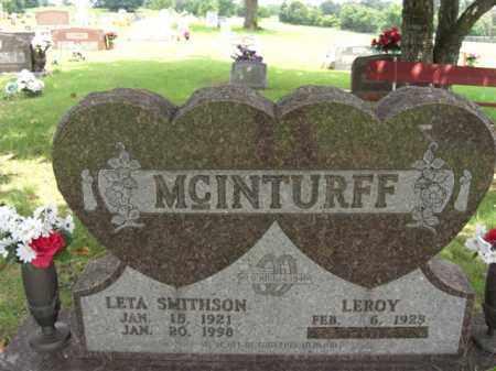 MCINTURFF, LETA - Searcy County, Arkansas | LETA MCINTURFF - Arkansas Gravestone Photos