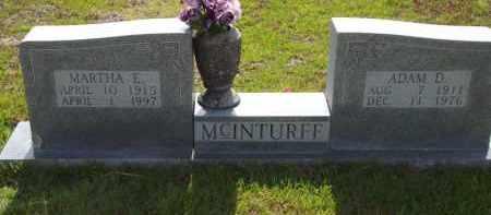 MCINTURFF, MARTHA E - Searcy County, Arkansas | MARTHA E MCINTURFF - Arkansas Gravestone Photos