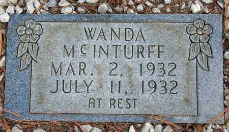 MCINTURFF, WANDA - Searcy County, Arkansas | WANDA MCINTURFF - Arkansas Gravestone Photos