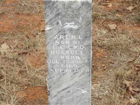 RUSSELL, ARCH L - Searcy County, Arkansas | ARCH L RUSSELL - Arkansas Gravestone Photos