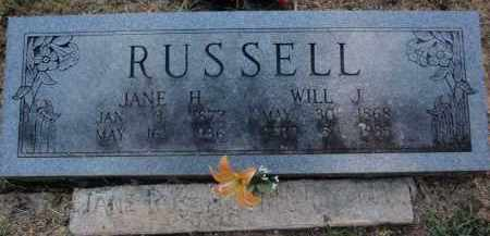 RUSSELL, JANE H - Searcy County, Arkansas | JANE H RUSSELL - Arkansas Gravestone Photos