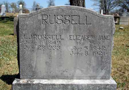 RUSSELL, L. J. - Searcy County, Arkansas | L. J. RUSSELL - Arkansas Gravestone Photos