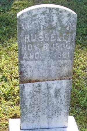 RUSSELL, MARTHA - Searcy County, Arkansas | MARTHA RUSSELL - Arkansas Gravestone Photos