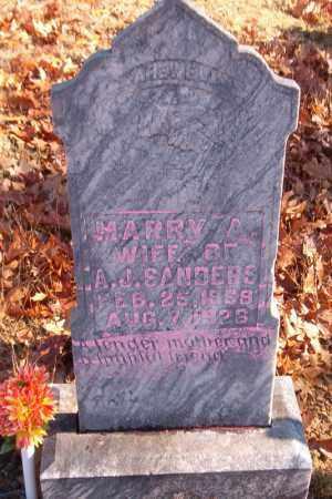 SANDERS, MARY A. - Searcy County, Arkansas   MARY A. SANDERS - Arkansas Gravestone Photos