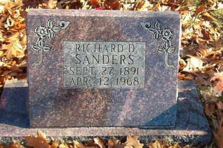 SANDERS, RICHARD D. - Searcy County, Arkansas   RICHARD D. SANDERS - Arkansas Gravestone Photos