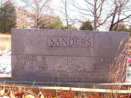 SANDERS, SAMUEL M. - Searcy County, Arkansas   SAMUEL M. SANDERS - Arkansas Gravestone Photos