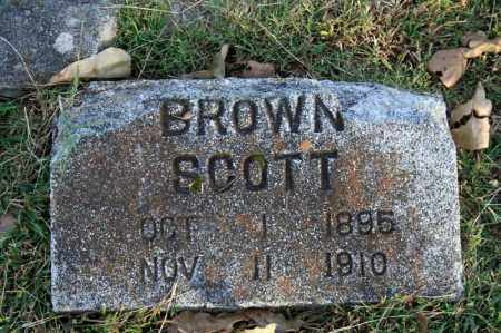 SCOTT, BROWN - Searcy County, Arkansas | BROWN SCOTT - Arkansas Gravestone Photos