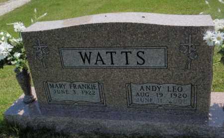 WATTS, ANDY LEO - Searcy County, Arkansas   ANDY LEO WATTS - Arkansas Gravestone Photos